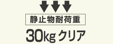 静止物耐荷重 30kgクリア
