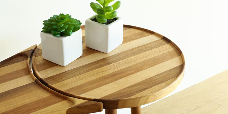 テーブル ストライプ柄