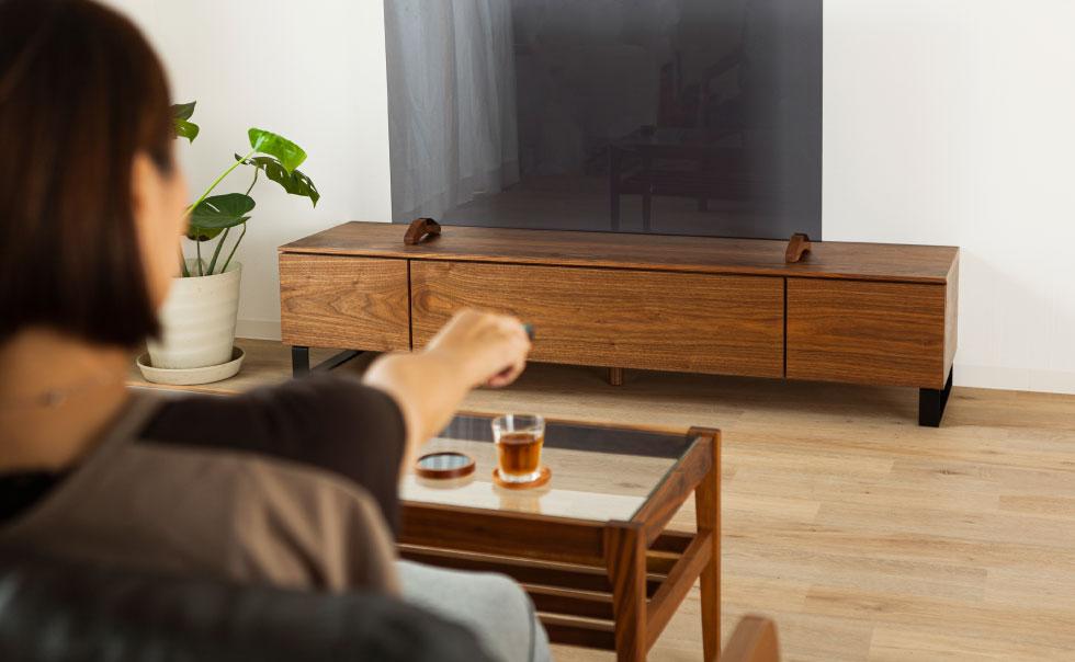 テレビボード リモコン 通る