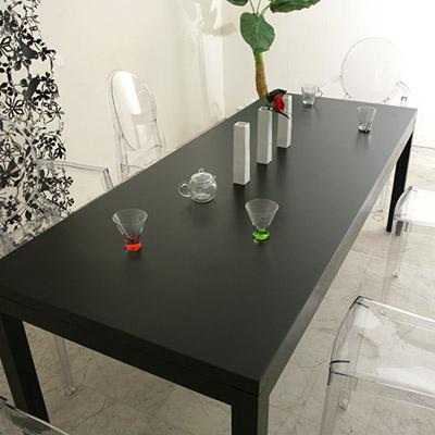 ダイニングテーブル オーク ブラック