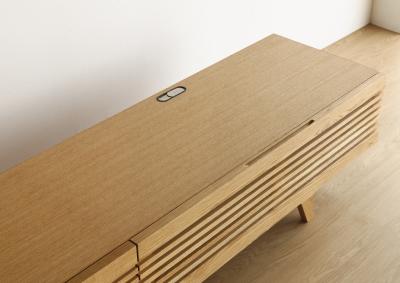 テレビボード 配線孔
