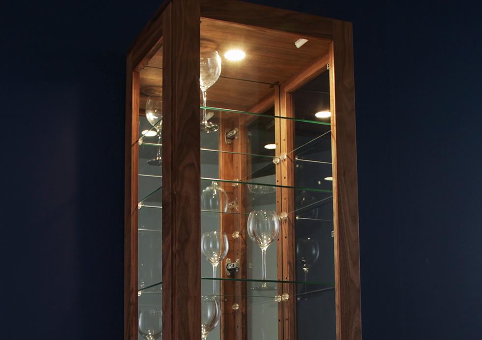 キャビネット ガラス キュリオケース