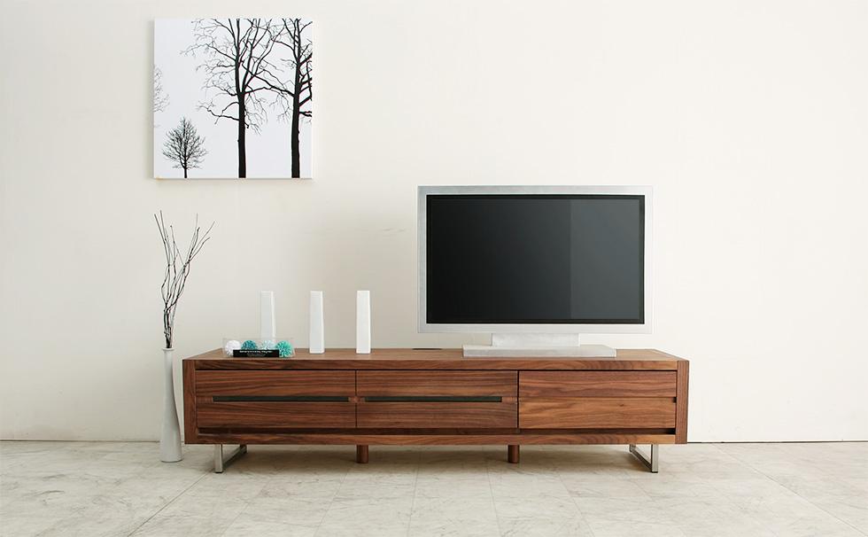 テレビボード スリット