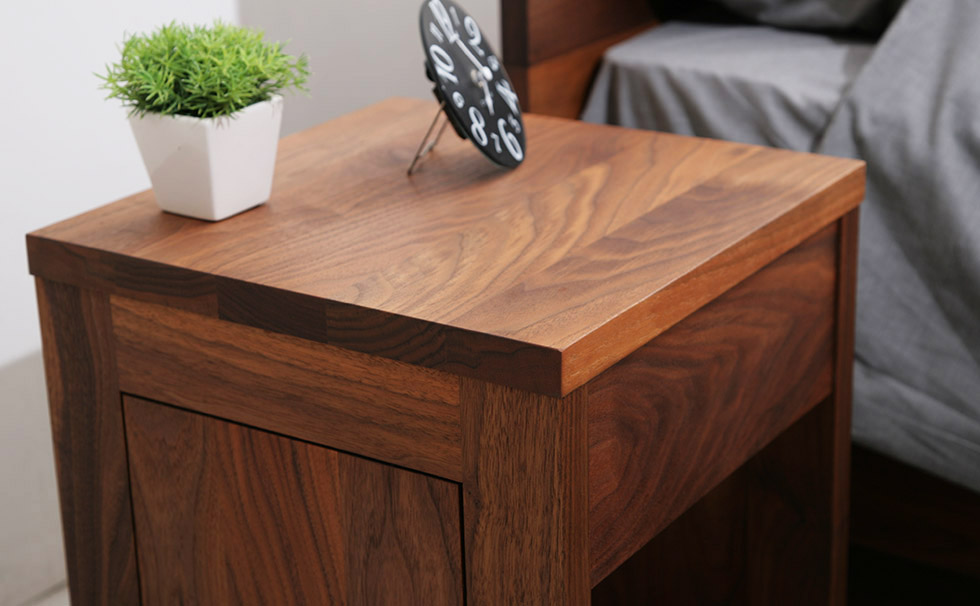 ナイトテーブル 天然木 無垢