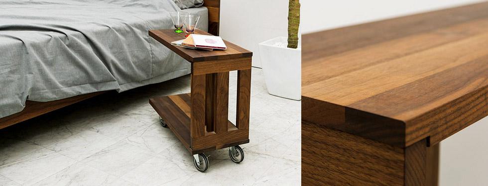 サイドテーブル 天然木 無垢