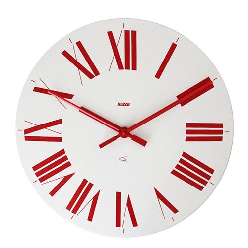 時計 フィレンツェ ホワイト・レッド
